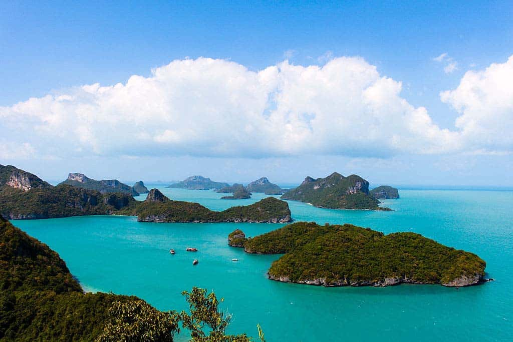 Ang Thong National Marine Park blue waters