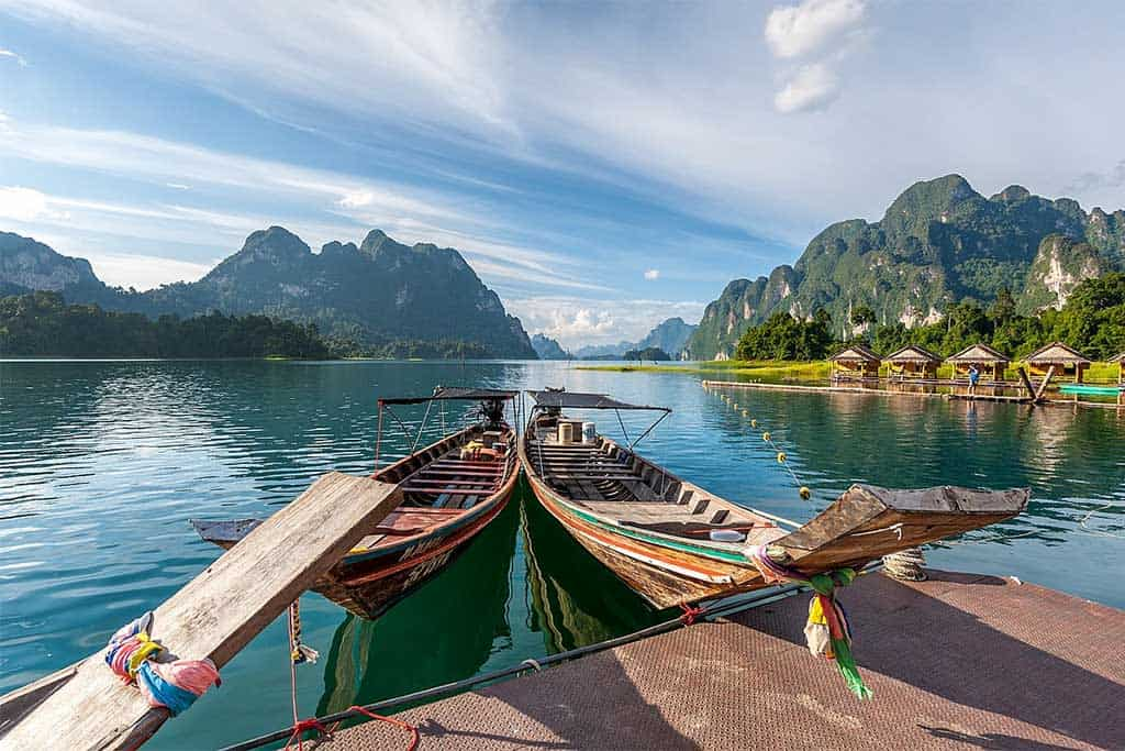Khao Sok National Park long tail boat