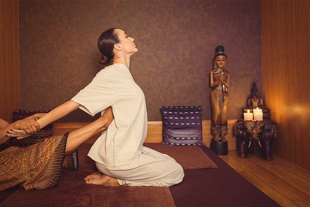 straighten your back with a traditional Thai massage