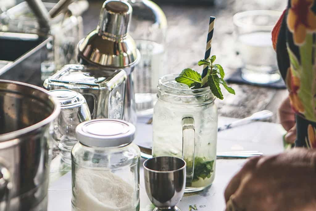 making mojitos on the Chalong Bay Distillery Tour
