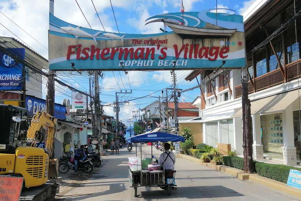 Bophut Fisherman's Village in Koh Samui