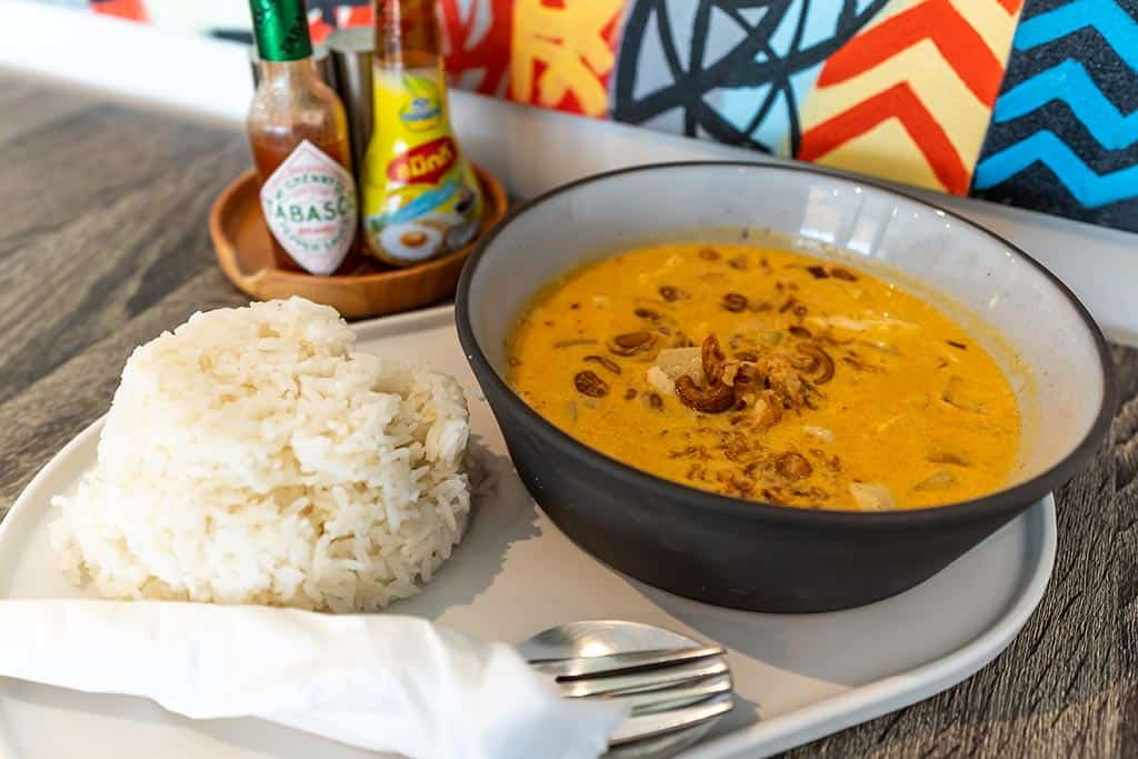massaman curry at Bodega Phuket Resort