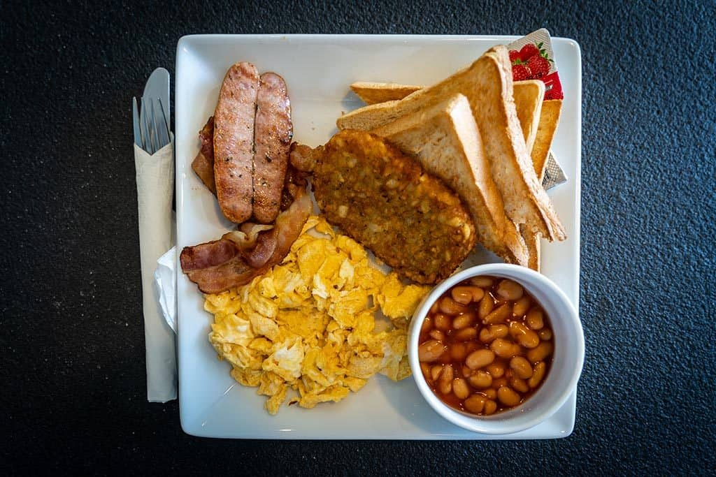 English breakfast at Bodega's all day cafe and kitchen