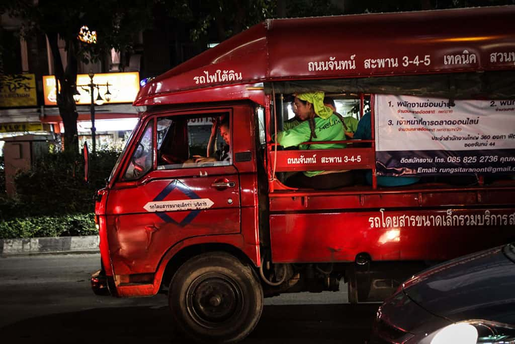 All About Songthaews, Thailand's Breezy Transport Titans