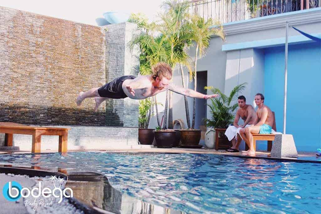 Bodega Phuket belly flop competition