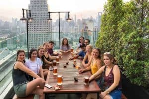 The Best Rooftop Bar in Bangkok on a Backpackers Budget
