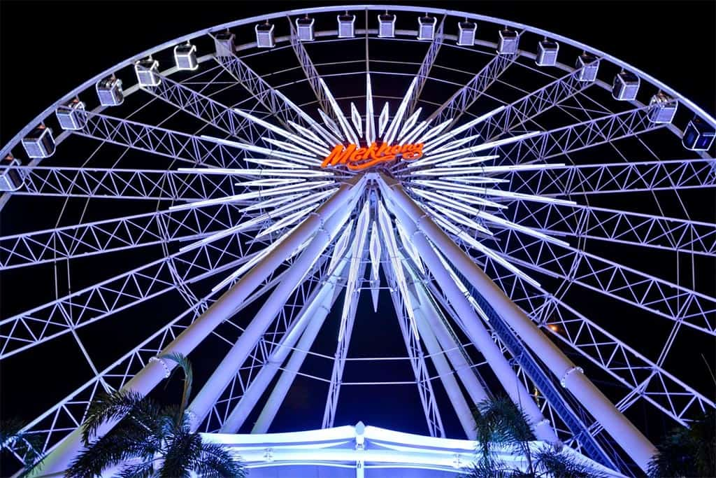 Ferris wheel at Asiatique the Riverfront in Bangkok, Thailand
