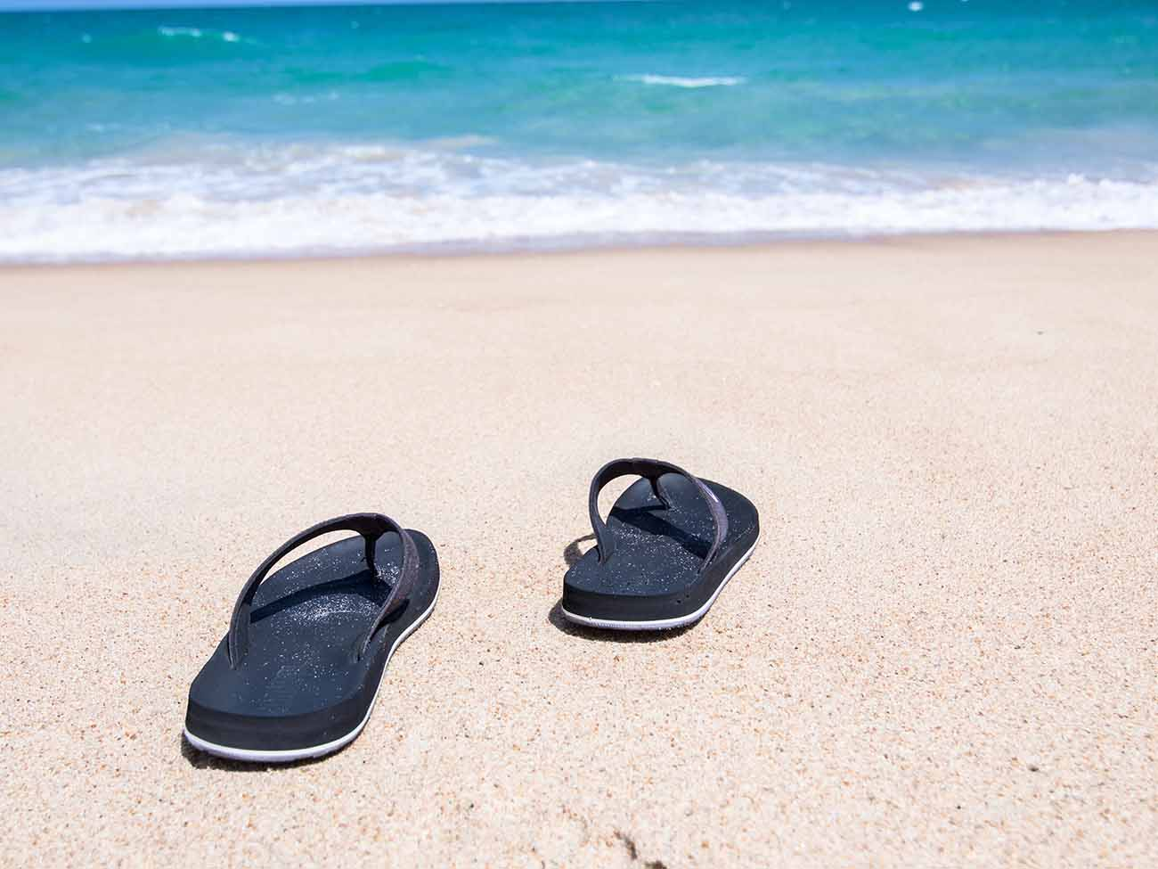 Don't forget your flip flops when leaving Patong Beach, Phuket!