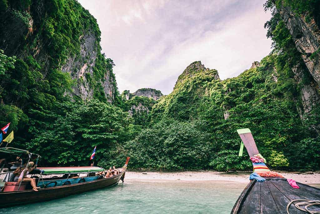 long tail boats in Krabi, Thailand