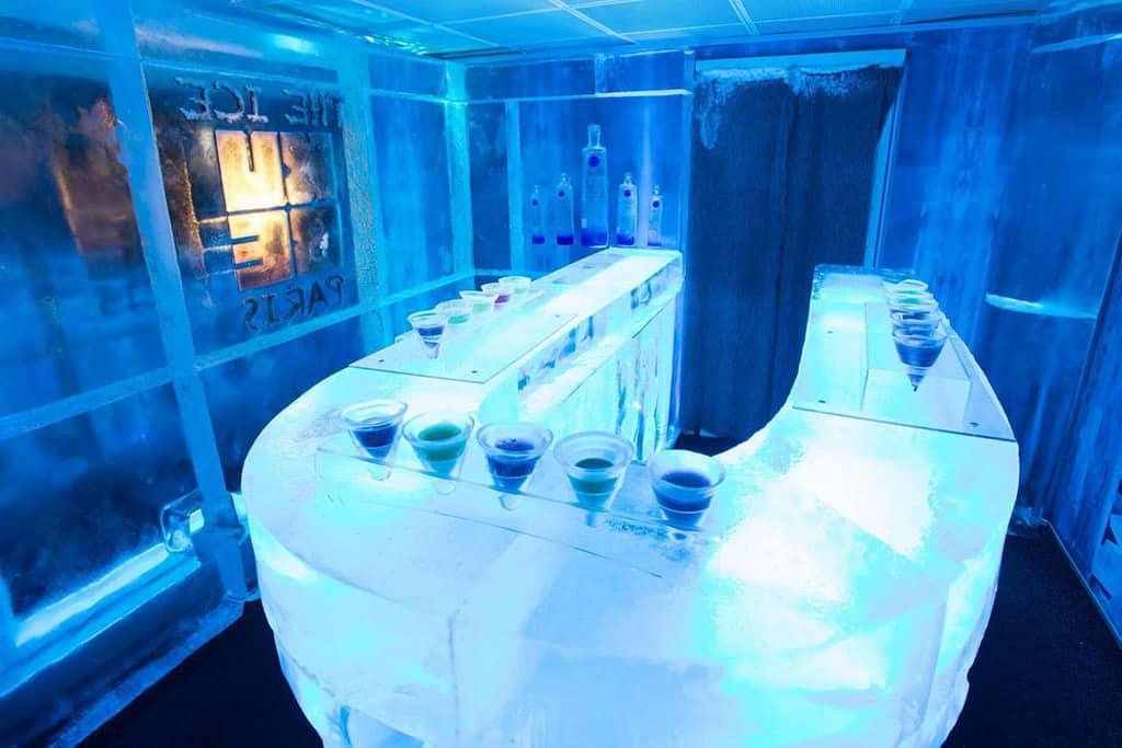 Drinking like an Eskimo at Absolut Ice Bar on Koh Samui