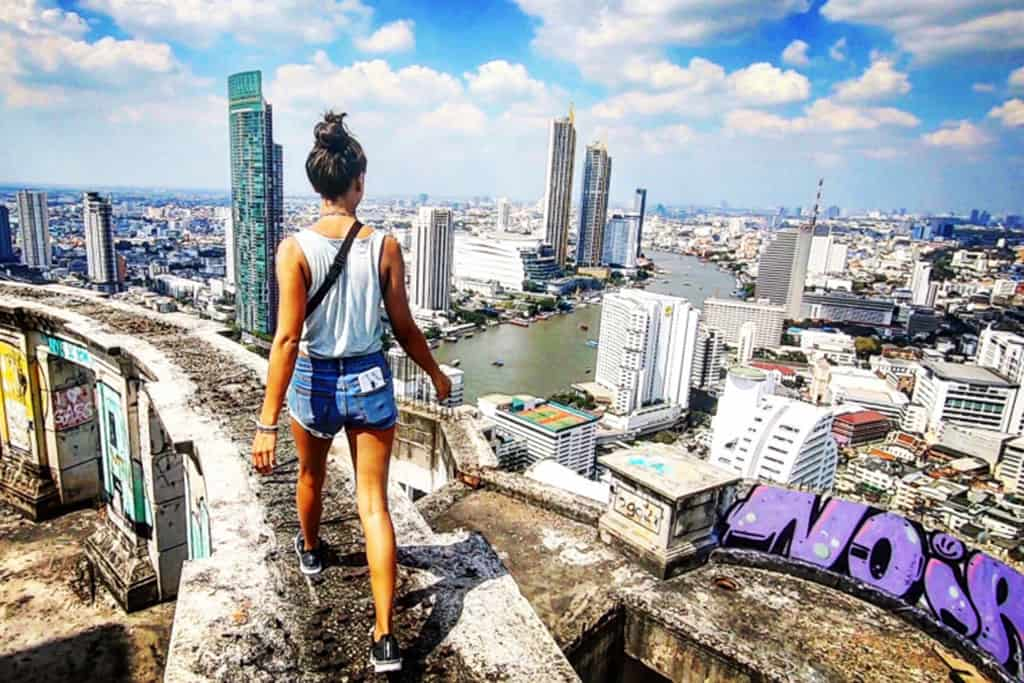 Bangkok Ghost Tower: Skyline Views from an Abandoned Skyscraper
