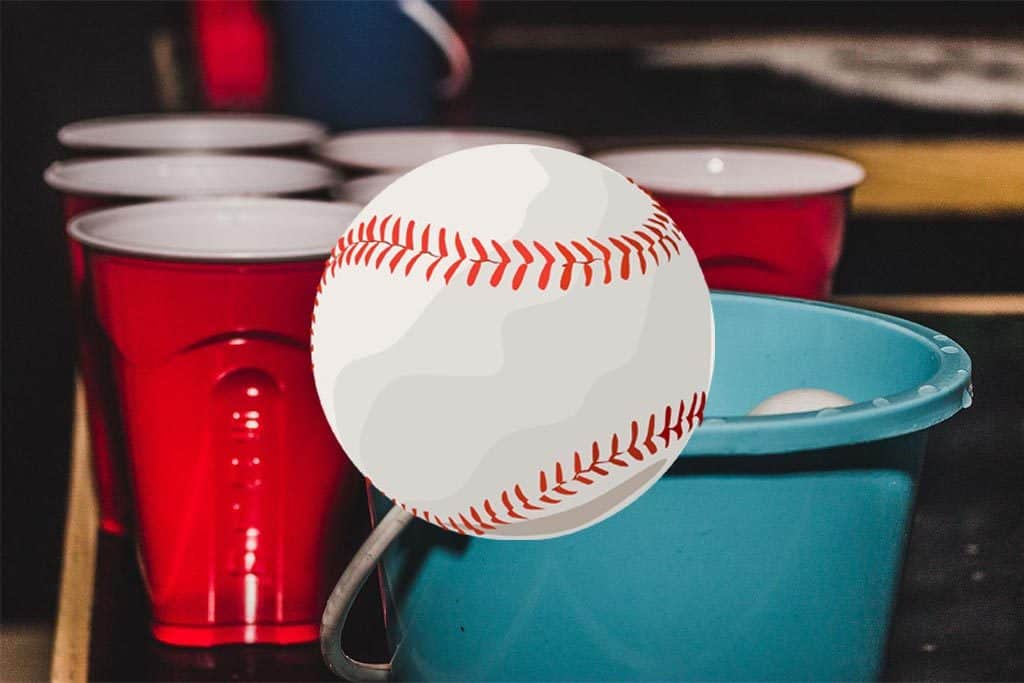How to Play the Baseball Drinking Game: Beer Pong + Flip Cup!