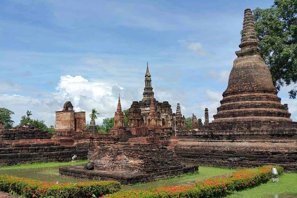 Sukhothai Historical Park ancient city and temple ruins
