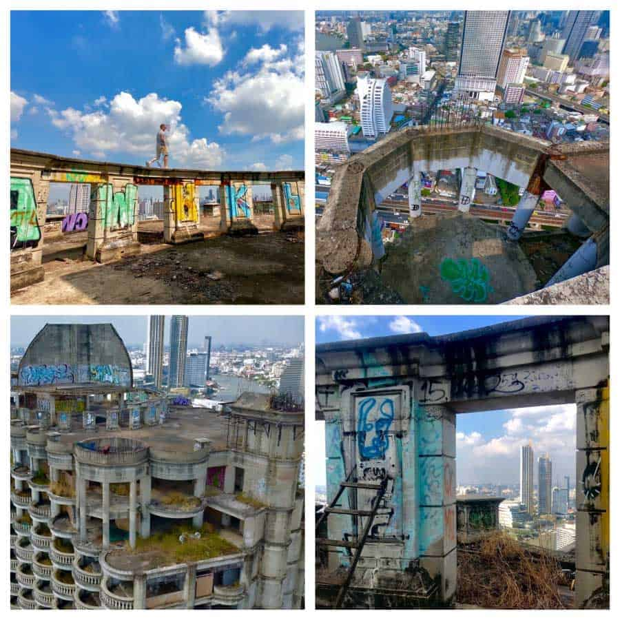 4 viewpoints of the Bangkok Ghost Tower
