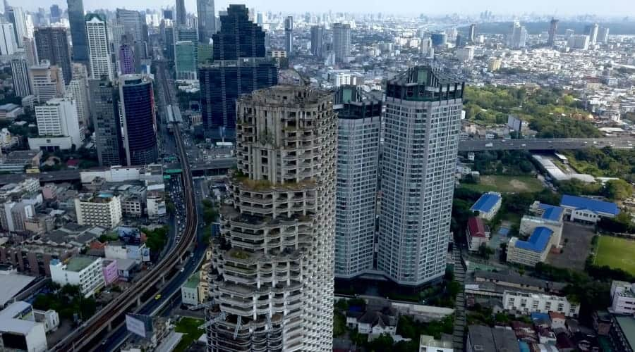 view from the Bangkok Ghost Tower