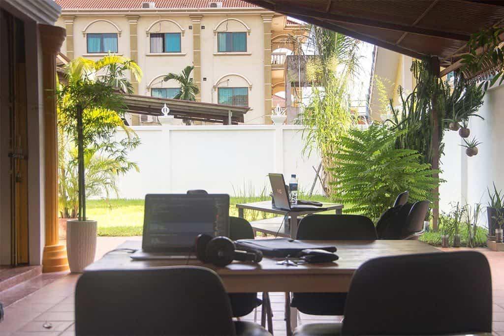 AngkhorHub coworking space in Siem Reap