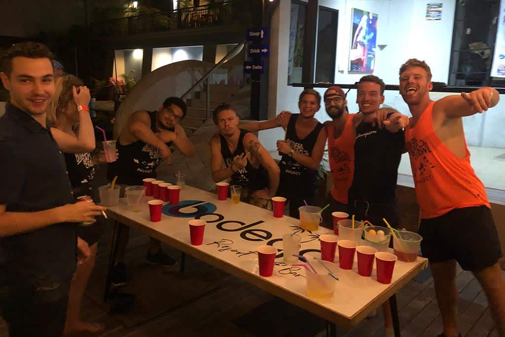 Baseball Drinking Game at Bodega Hostels