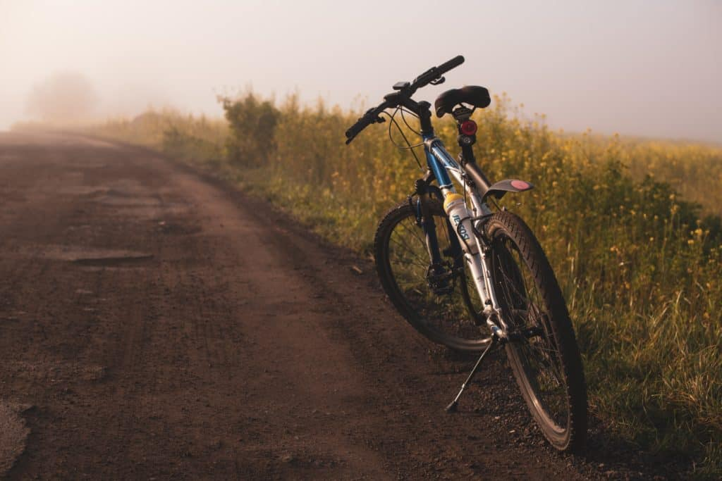 bicycle on dirt road