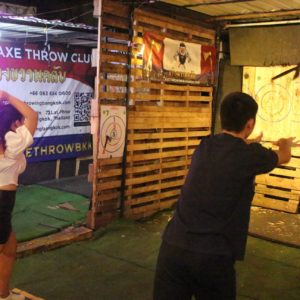 competitive axe throwing Bangkok