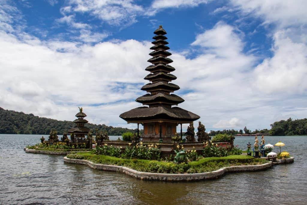 floating temple in Bali