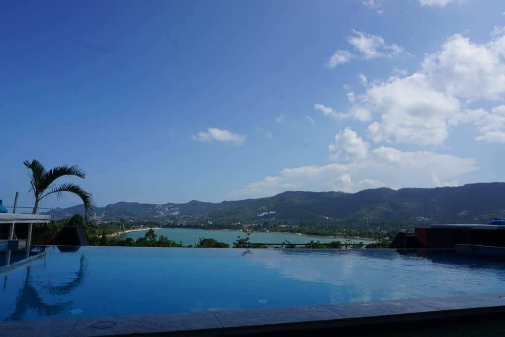 infinity pool in Koh Samui