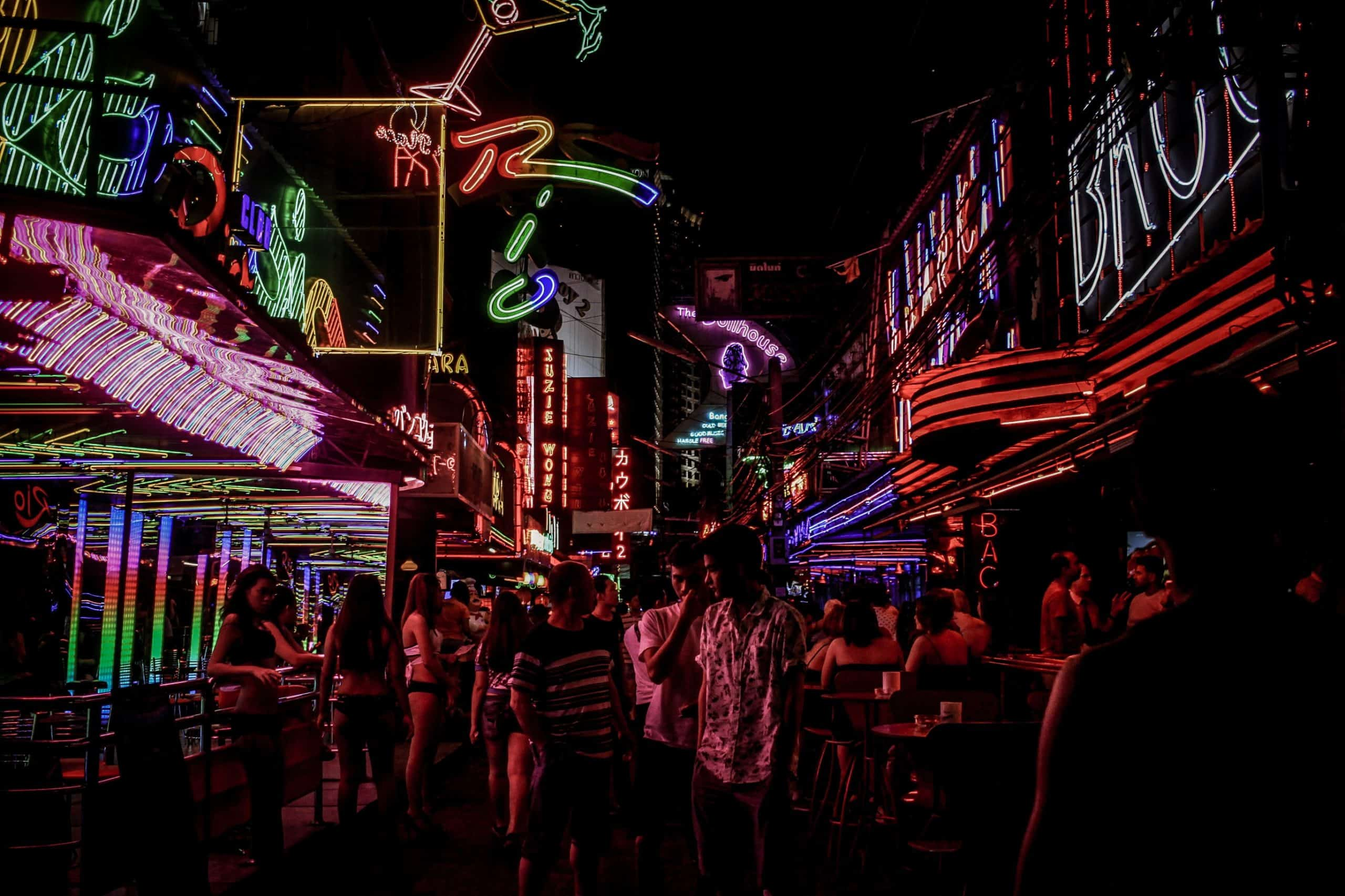 Inside Bangkok Red Light Districts: Neon Lights, Not All Red