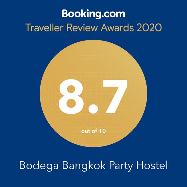 Bodega Bangkok bookin.com award 2020
