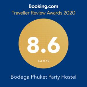 Bodega Phuket bookin.com award 2020