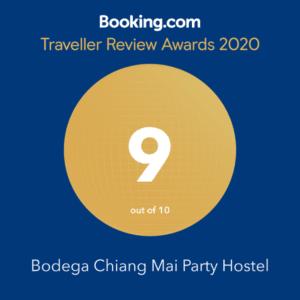 Bodega Chiang Mai booking.com award 2020