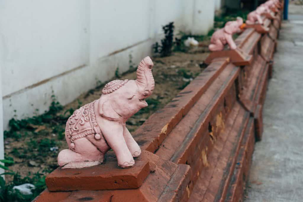 Thai elephant statue