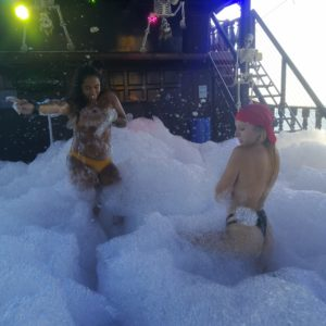 Phuket foam party on booze cruise