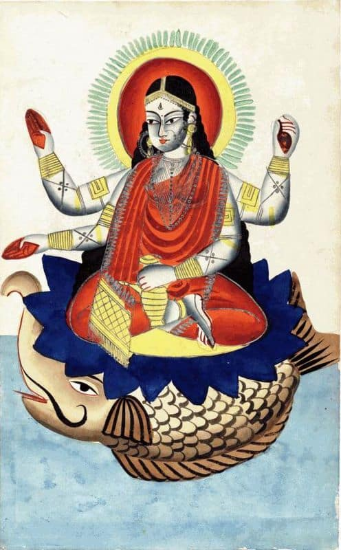 Hindu Makara illustration