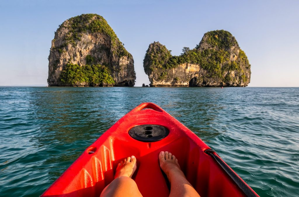 kayaking in Krabi, Thailand