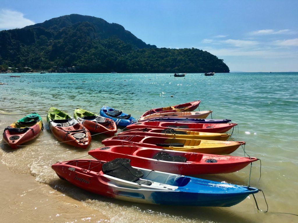 kayaks in Thailand