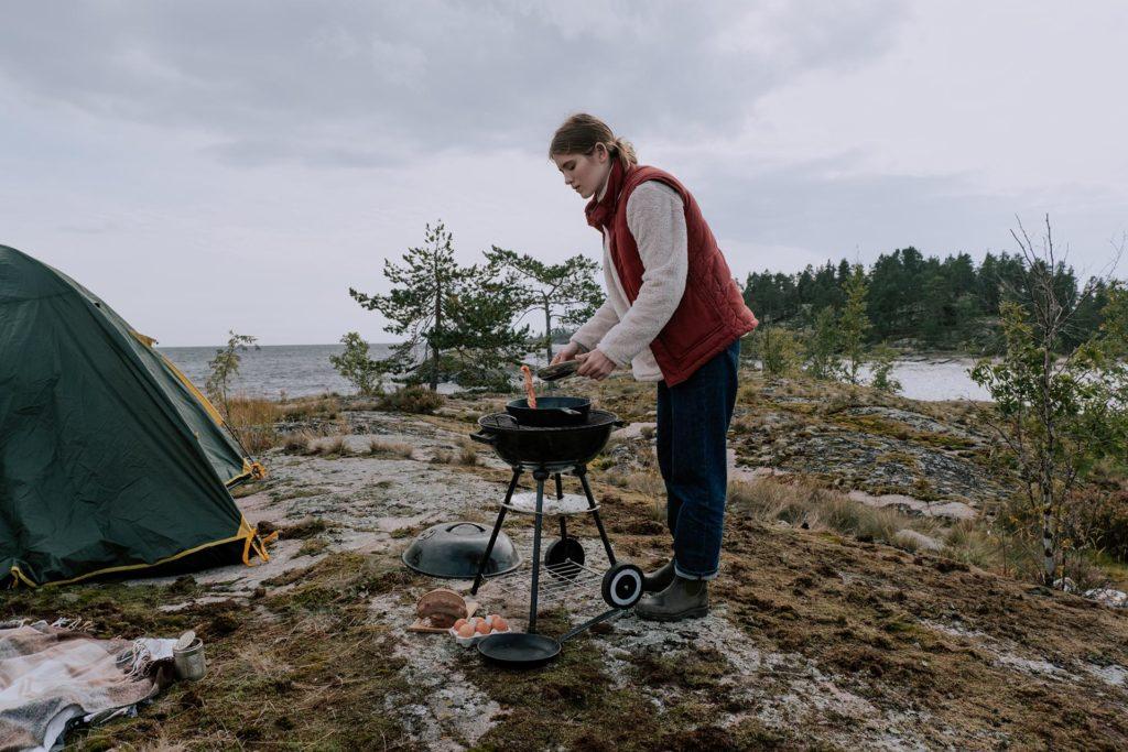 camping trip bbq